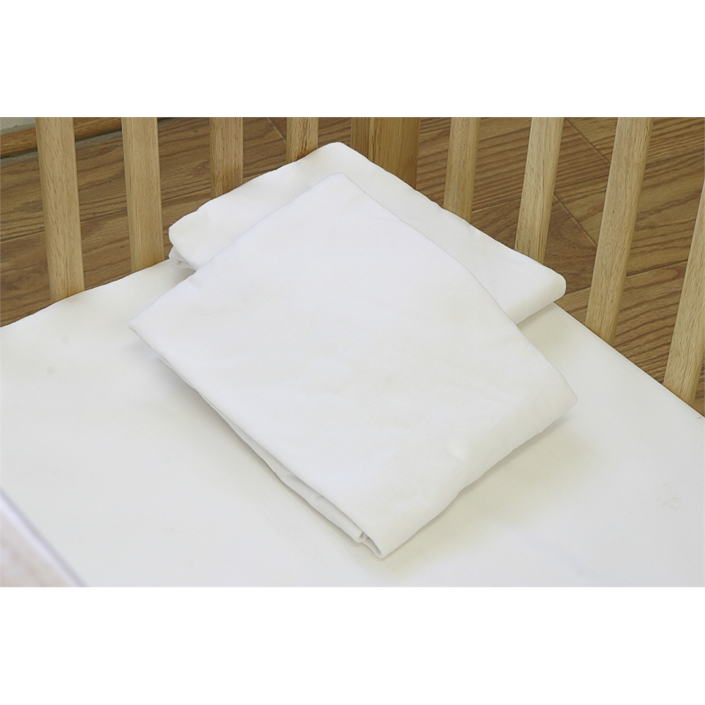 Fitted Sheet for pact Crib Mattress White