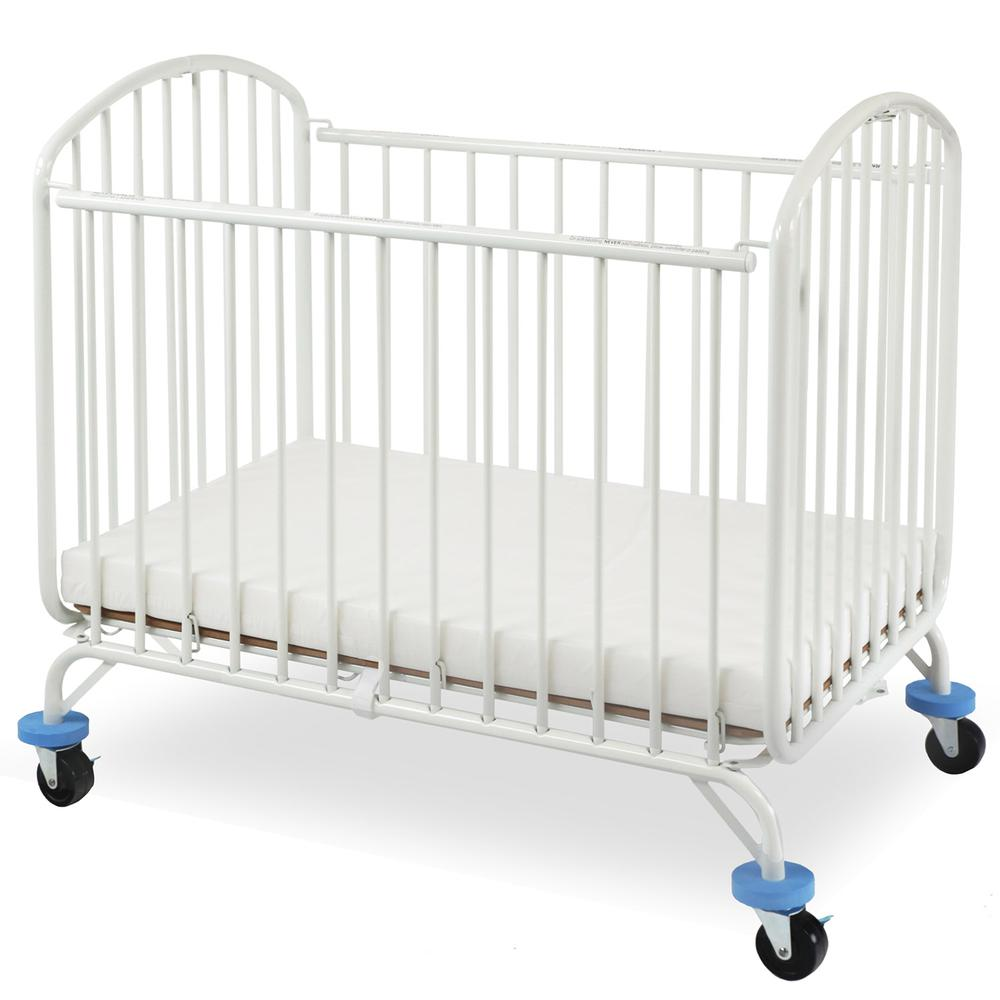 The New Folding Arched Compact Crib, White. Picture 1