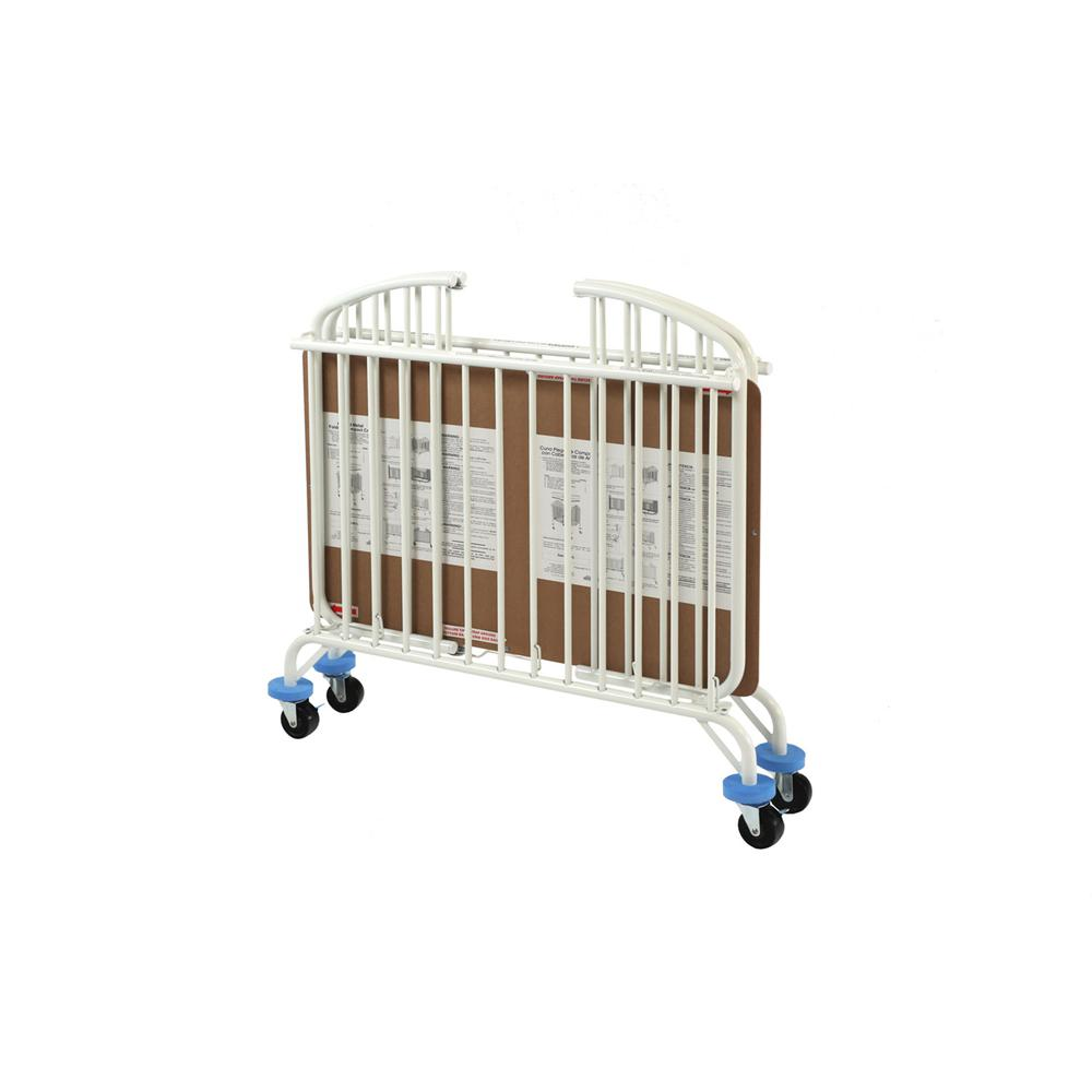 The New Folding Arched Compact Crib, White. Picture 2