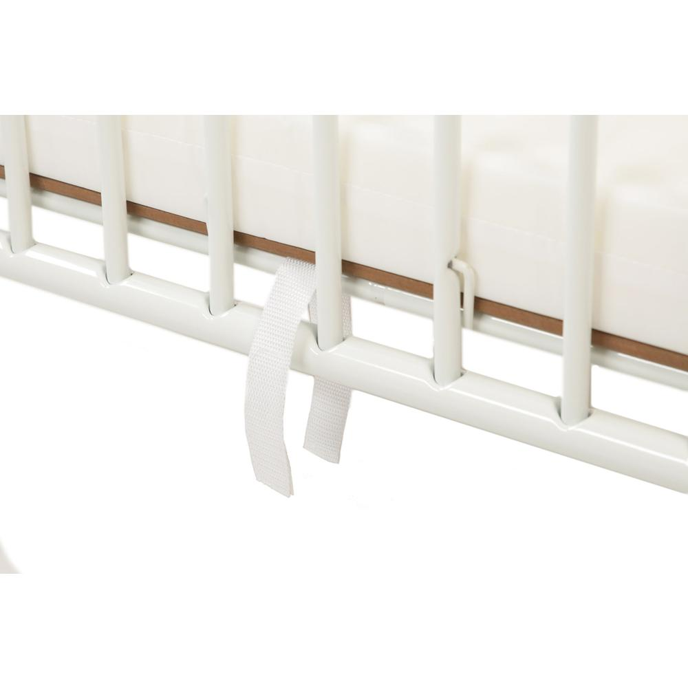 The New Folding Arched Compact Crib, White. Picture 6