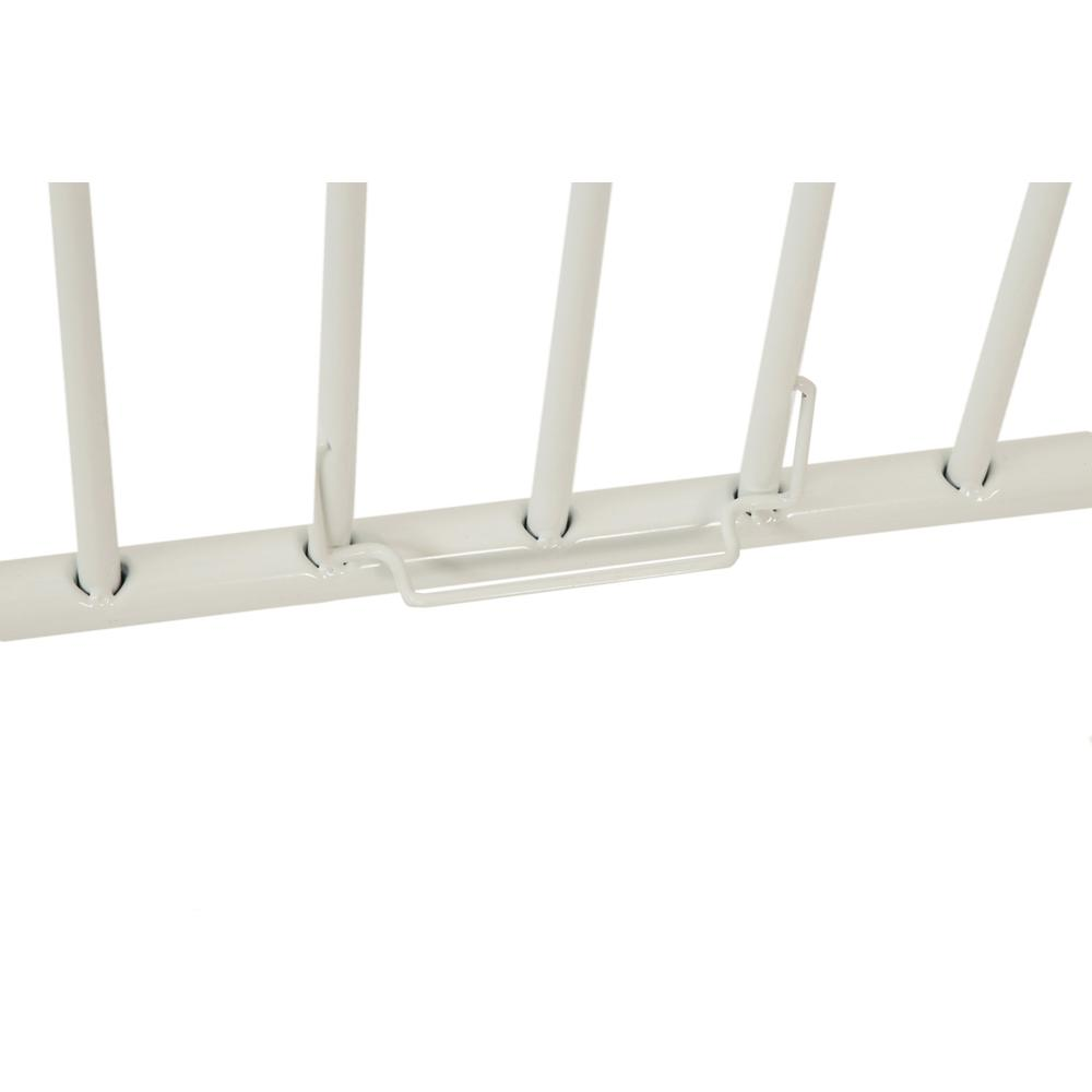 The New Folding Arched Compact Crib, White. Picture 8