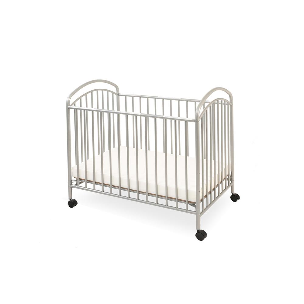 Classic Arched Mini/Portable/Compact Crib, Pewter. Picture 1