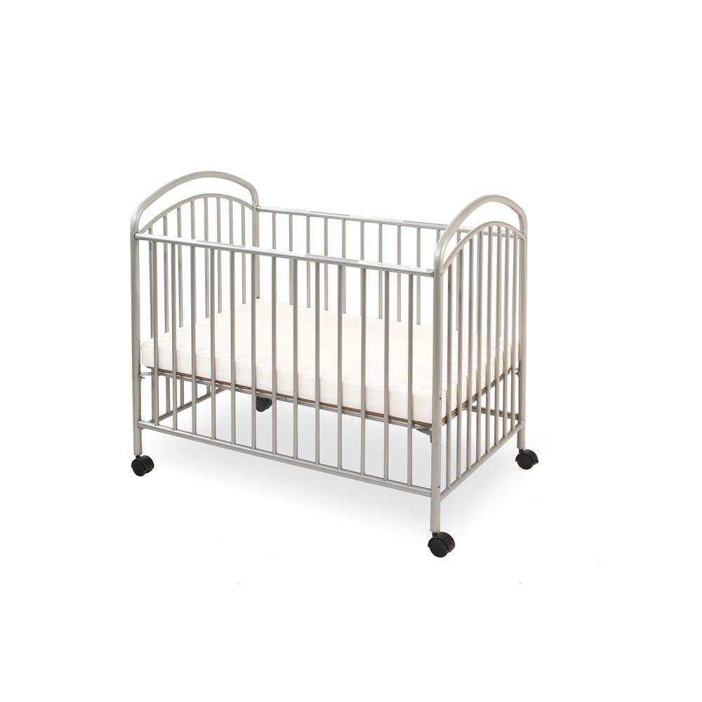 Classic Arched Mini/Portable/Compact Crib, Pewter. Picture 2