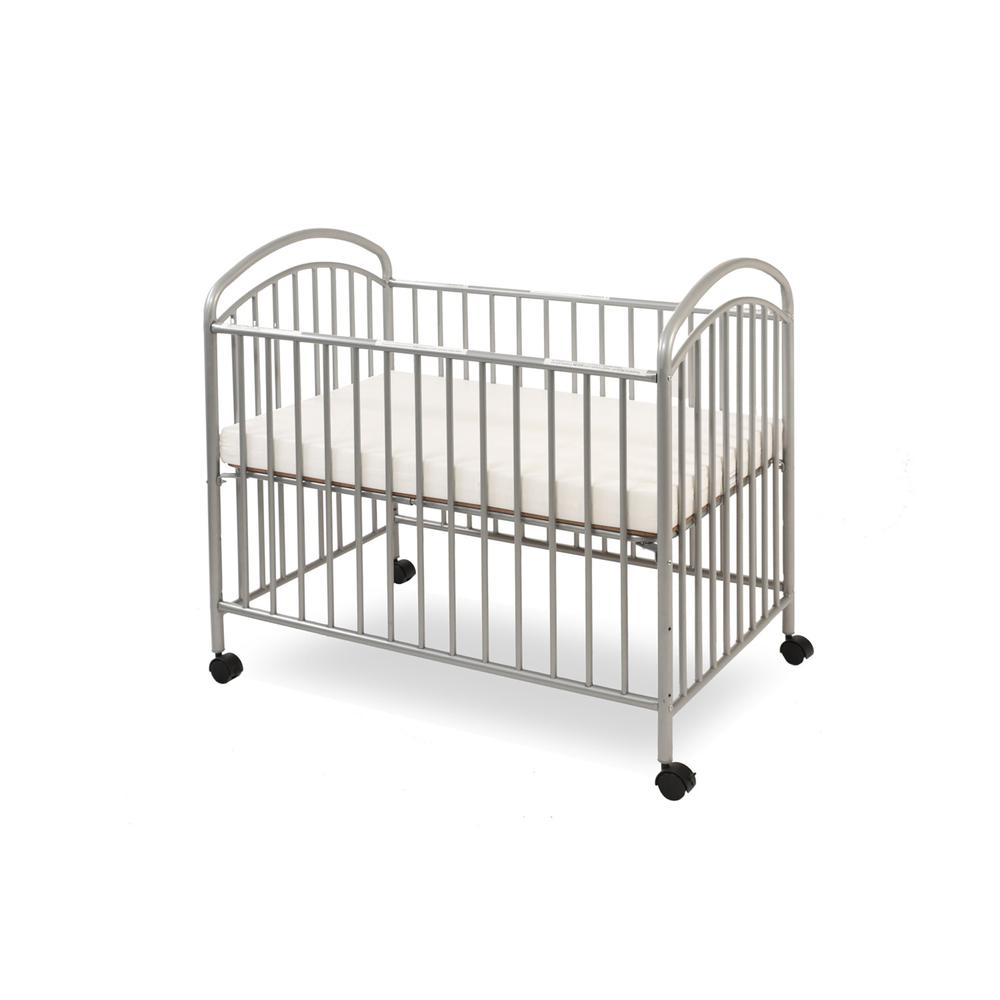 Classic Arched Mini/Portable/Compact Crib, Pewter. Picture 3