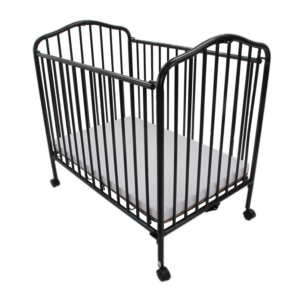 Mini Portable Compact Crib Black
