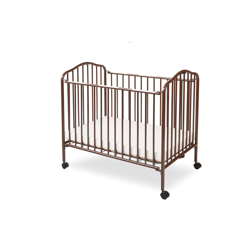 Mini/Portable/Compact Crib, Chocolate. Picture 1