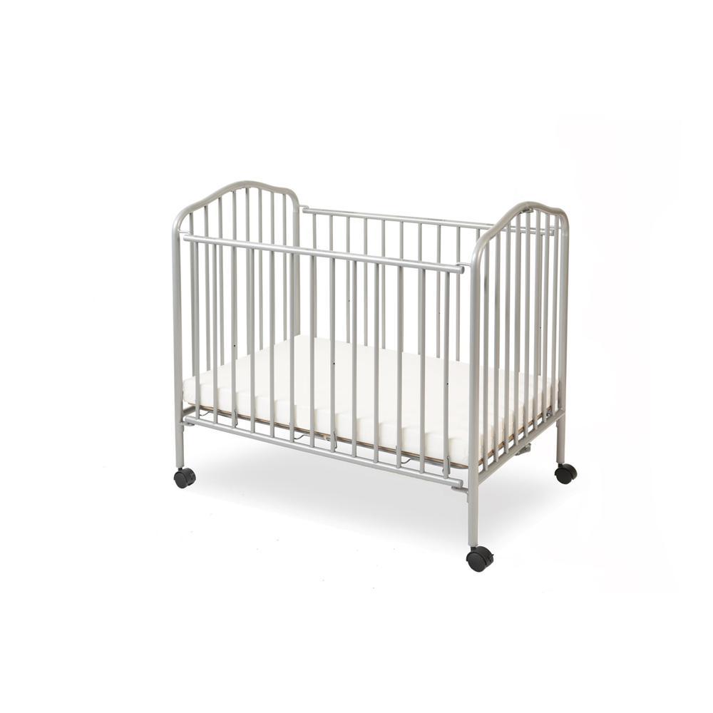 Mini/Portable/Compact Crib, Pewter. Picture 1