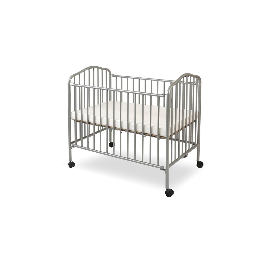 Mini/Portable/Compact Crib, Pewter. Picture 2
