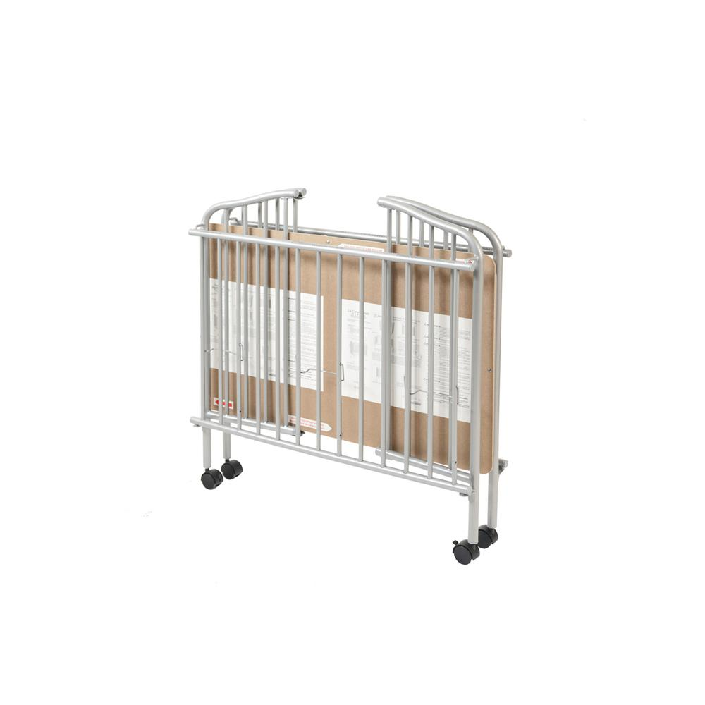 Mini/Portable/Compact Crib, Pewter. Picture 3