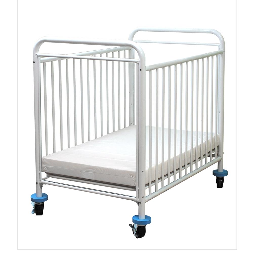 The Condo Metal Evacuation Window Crib, White. Picture 1