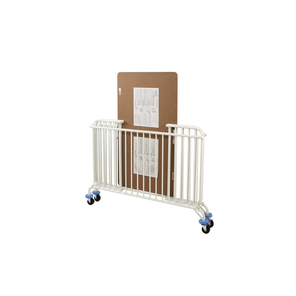 Full Size Metal Holiday Crib, White. Picture 2