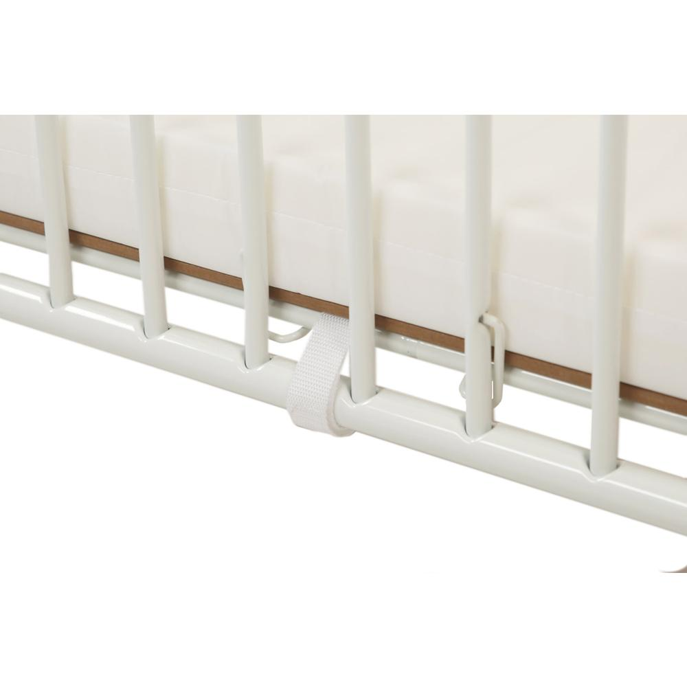 Full Size Metal Holiday Crib, White. Picture 5