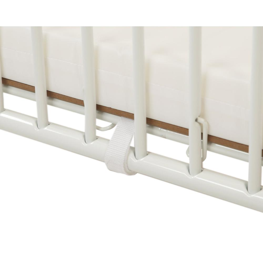 Deluxe Holiday Crib, White. Picture 5