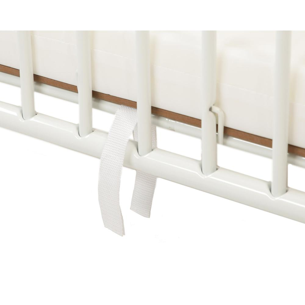 Deluxe Holiday Crib, White. Picture 6