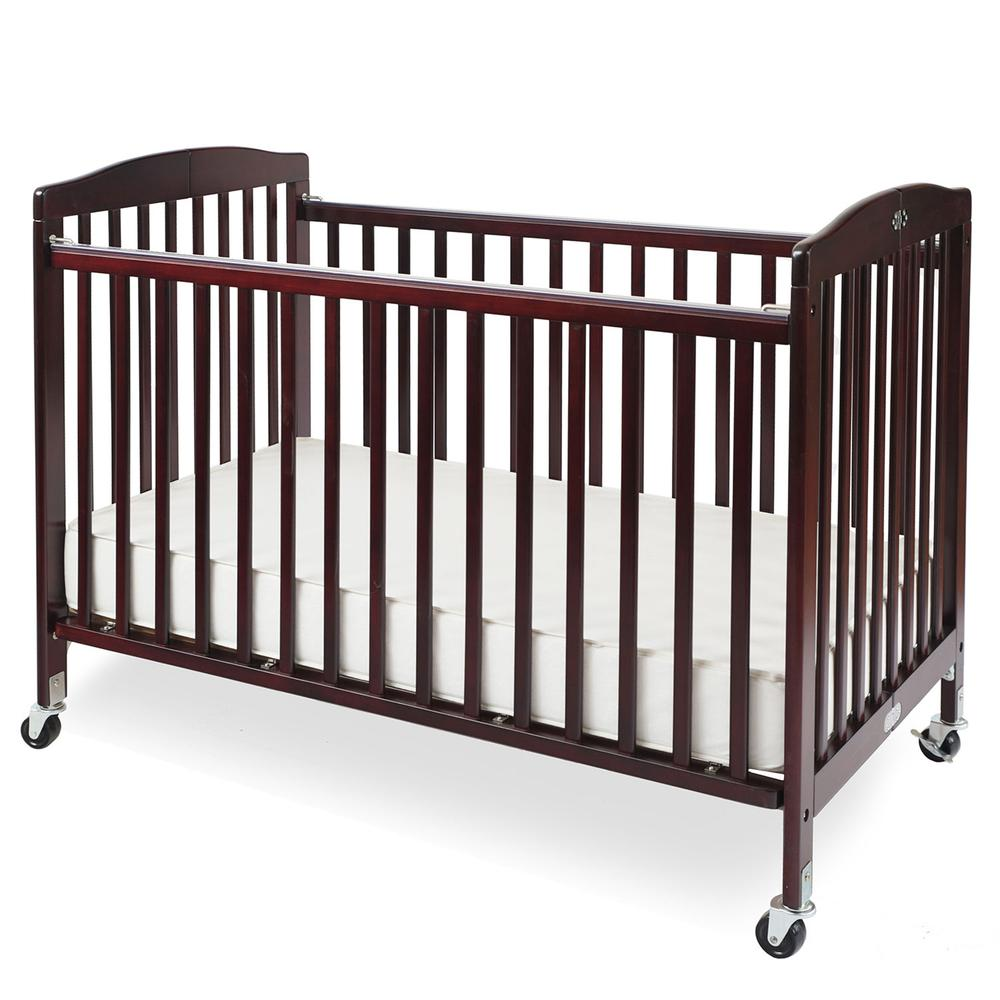 The Full size Wood Folding Crib-Cherry, Cherry. Picture 1