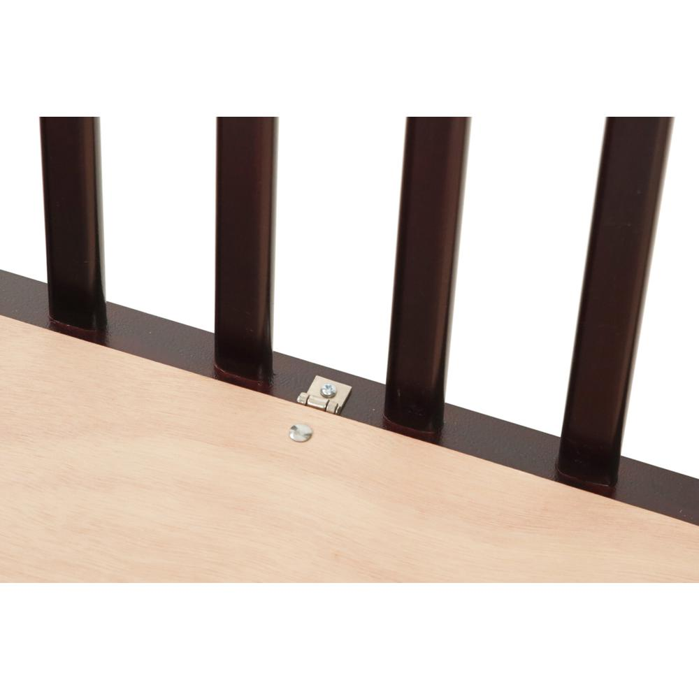 The Full size Wood Folding Crib-Cherry, Cherry. Picture 2