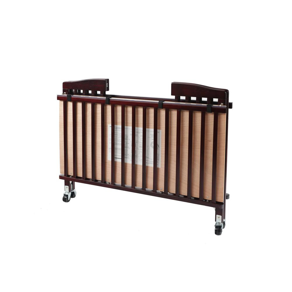The Full size Wood Folding Crib-Cherry, Cherry. Picture 3