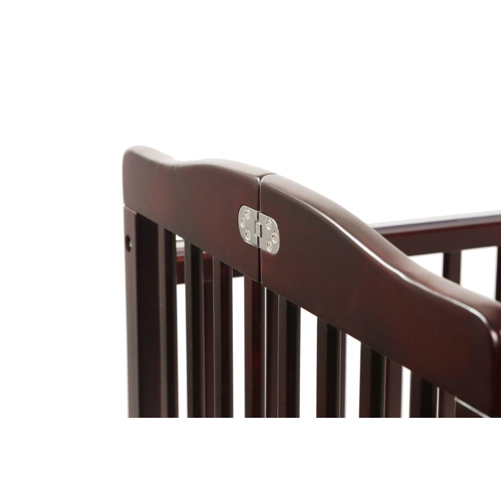 The Full size Wood Folding Crib-Cherry, Cherry. Picture 7