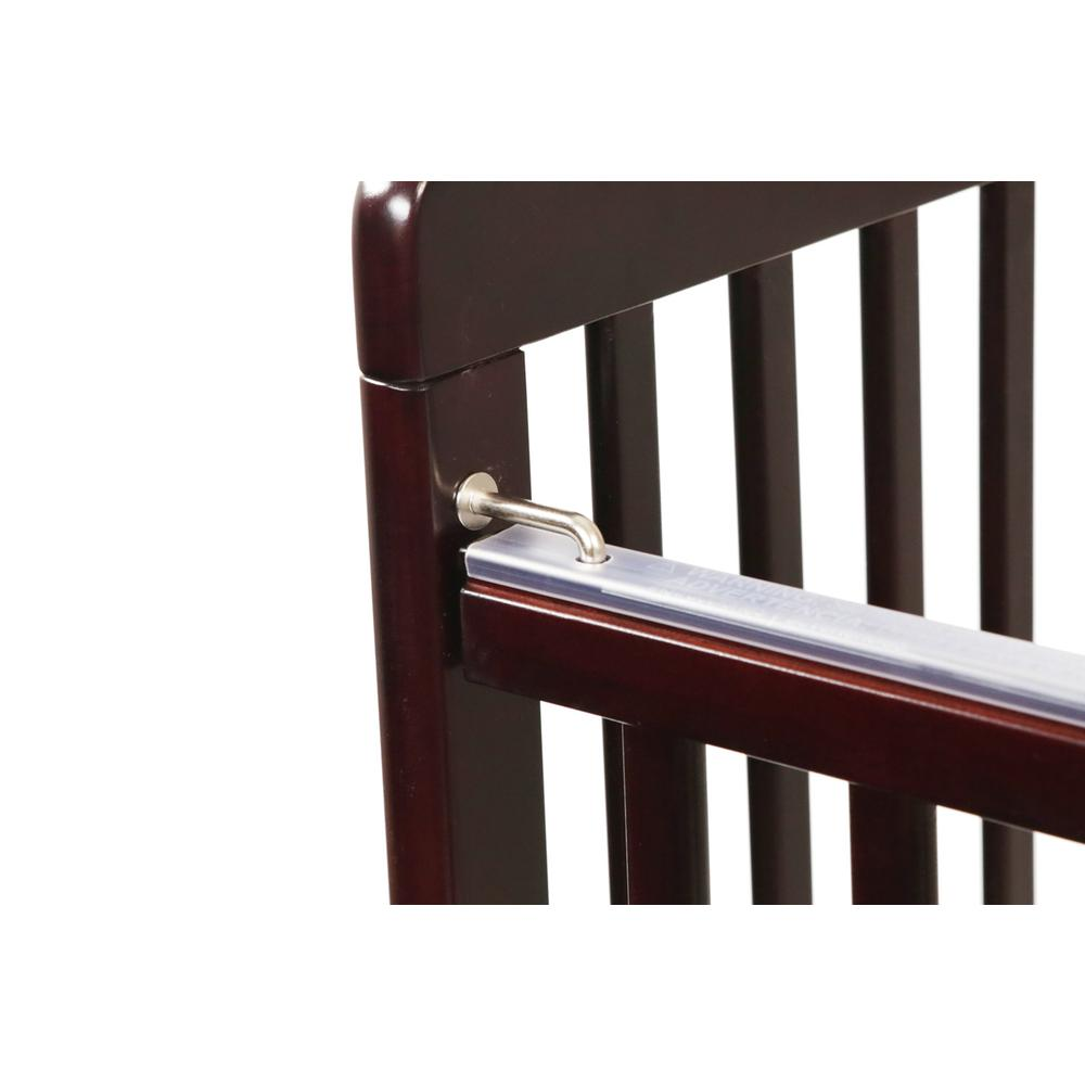 The Full size Wood Folding Crib-Cherry, Cherry. Picture 8