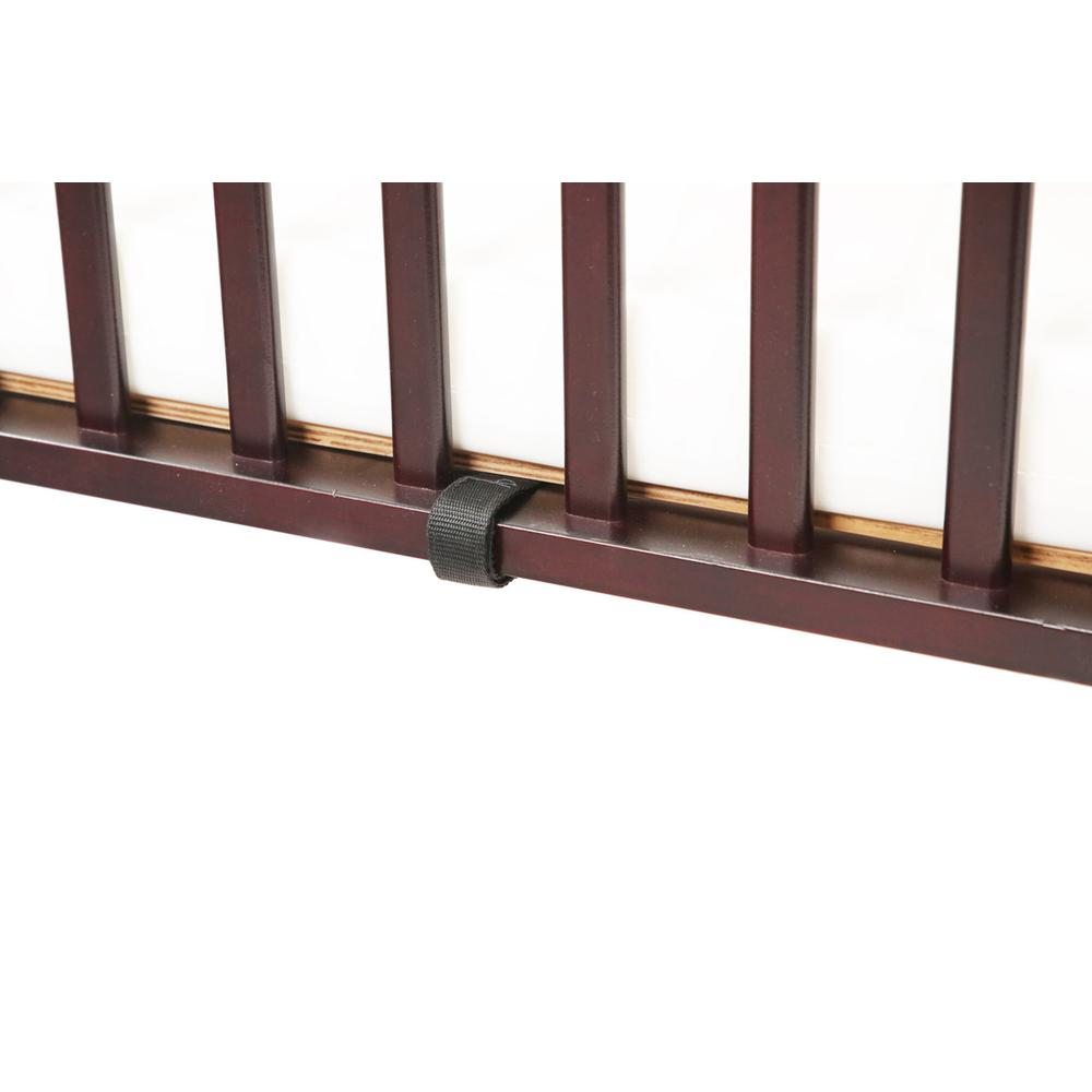 The Full size Wood Folding Crib-Cherry, Cherry. Picture 9
