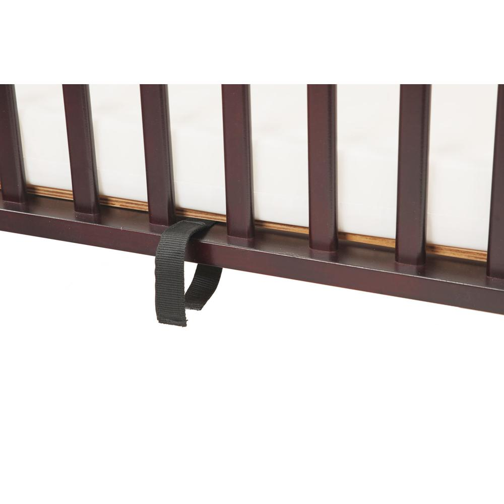 The Full size Wood Folding Crib-Cherry, Cherry. Picture 10