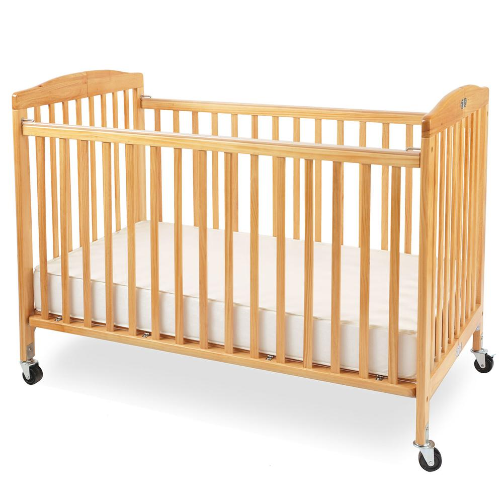 The Full Size Wood Folding Crib-Natural, Natural. Picture 1