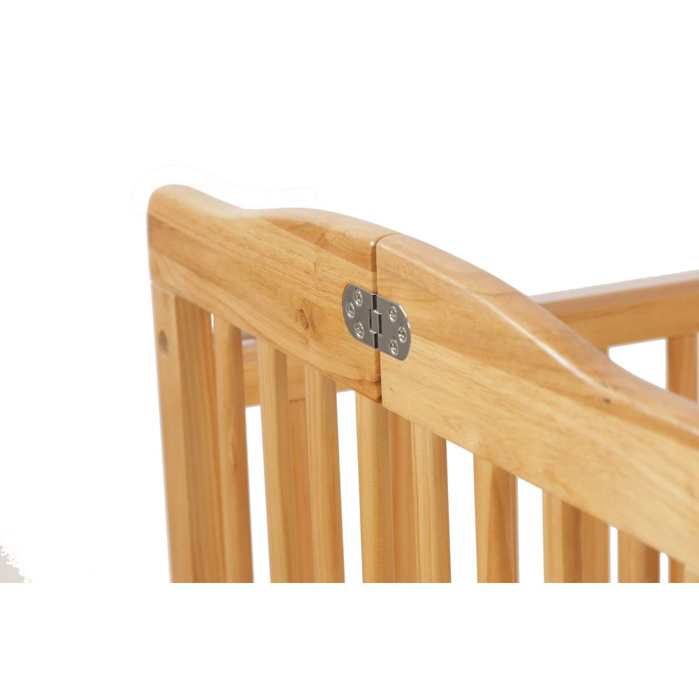 The Full Size Wood Folding Crib-Natural, Natural. Picture 7