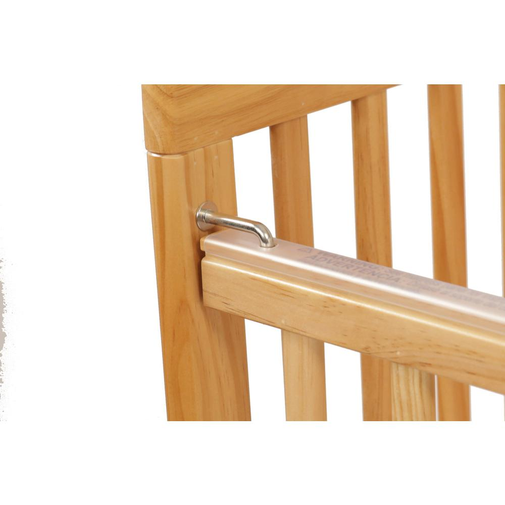 The Full Size Wood Folding Crib-Natural, Natural. Picture 8