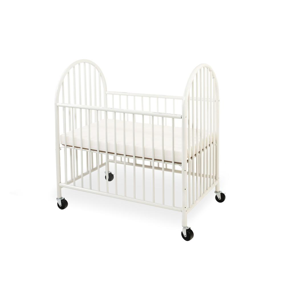 Arched Metal Compact Crib, White. Picture 3