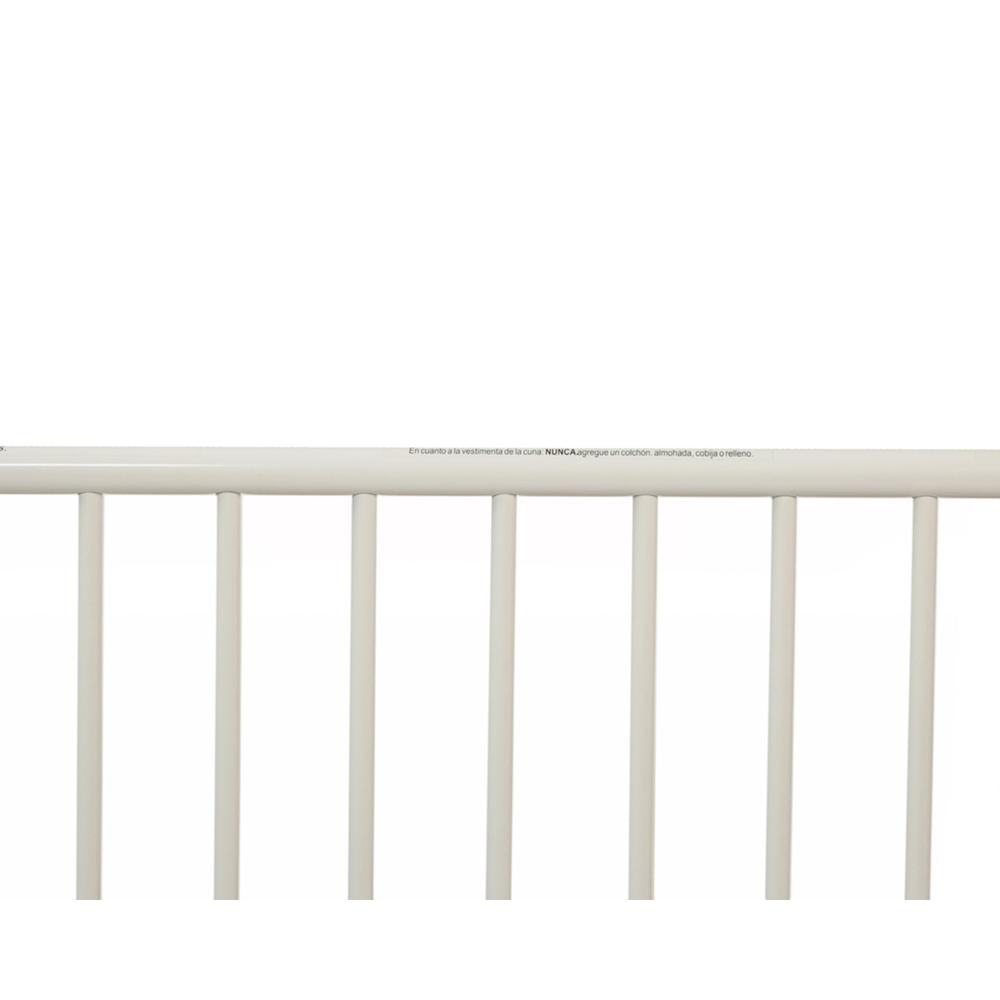 Arched Metal Compact Crib, White. Picture 6