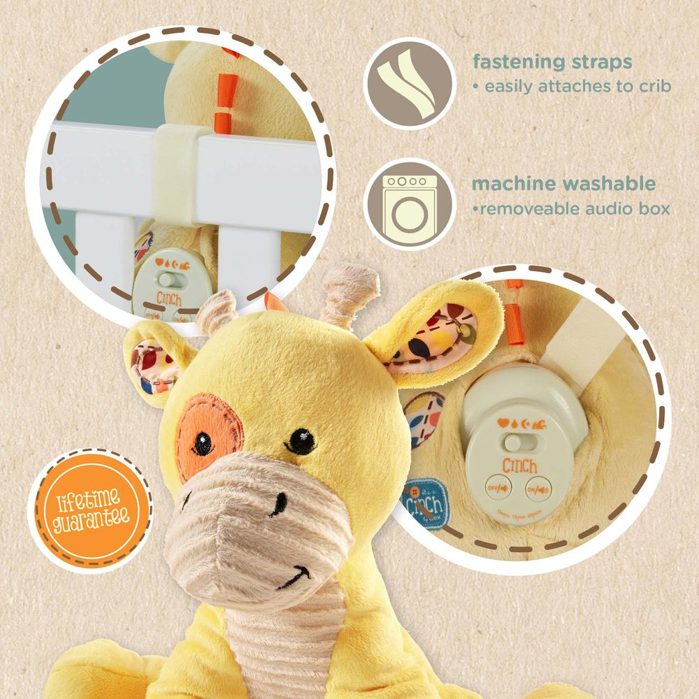 Cinch by dexbaby Plush Sleep Aid Womb Sound Soother – Giraffe. Picture 2