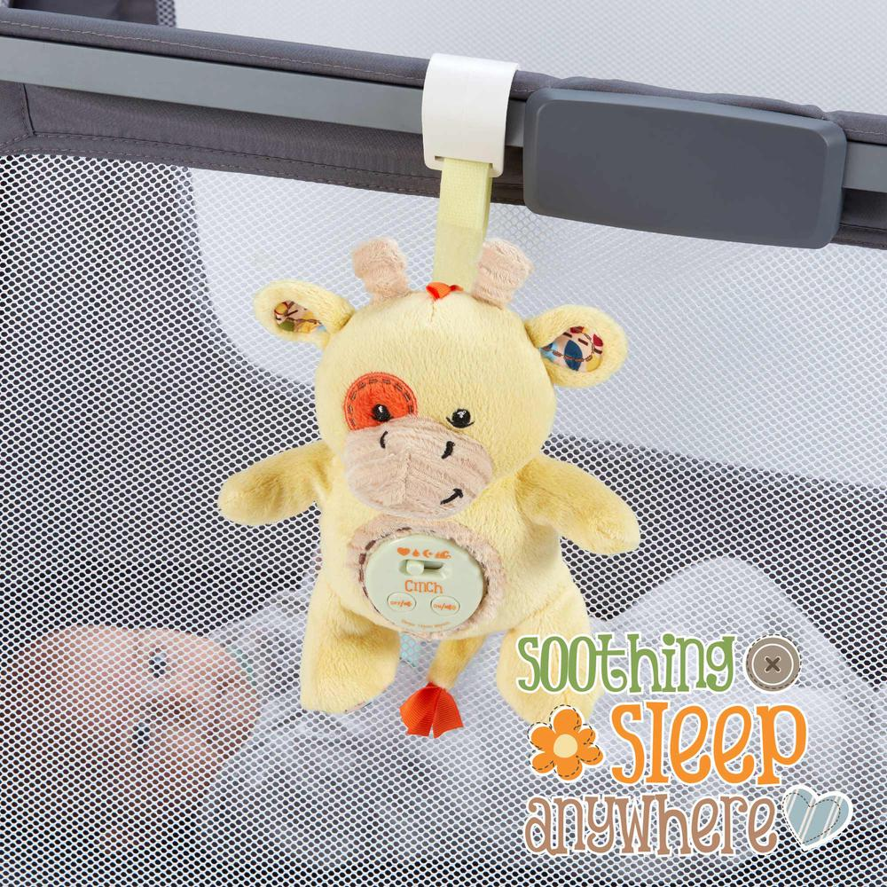 Cinch by dexbaby Plush Mini Giraffe - Sleep Aid Womb Sound Sootherw/Playard and Crib Attachment. Picture 5