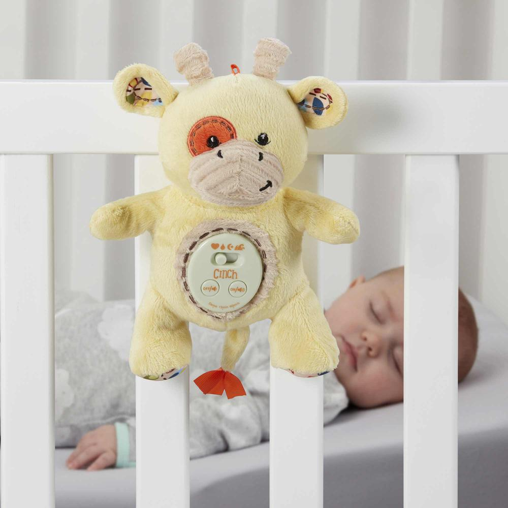 Cinch by dexbaby Plush Mini Giraffe - Sleep Aid Womb Sound Sootherw/Playard and Crib Attachment. Picture 6