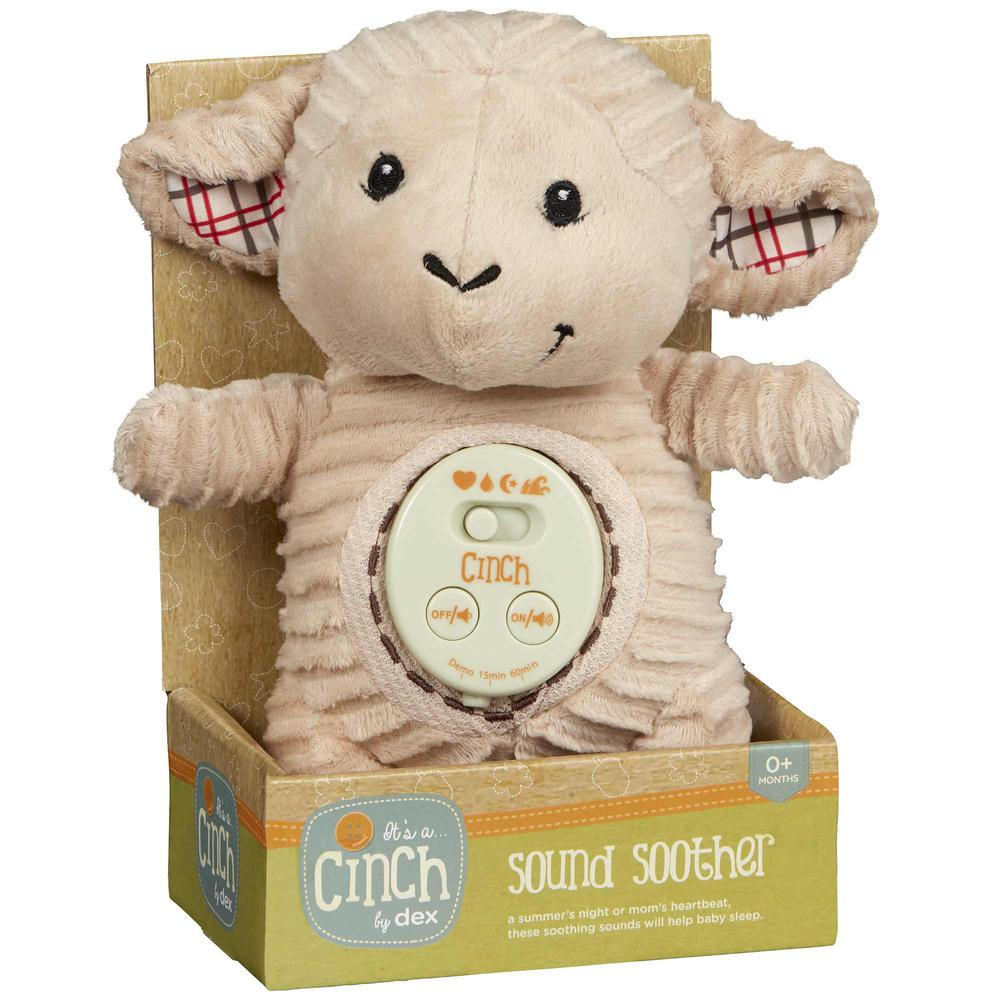Cinch by dexbaby Plush Mini Lamb - Sleep Aid Womb Sound Soother w/Playardand Crib Attachment. Picture 2