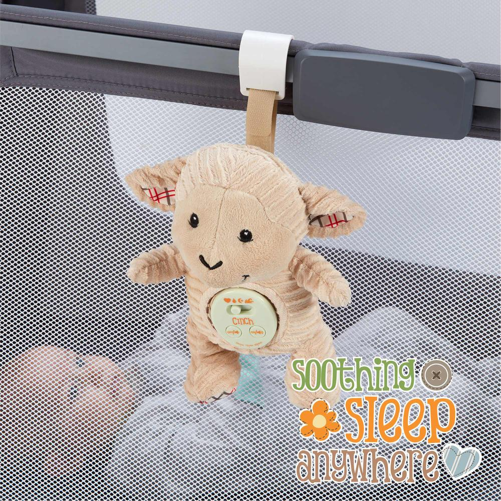 Cinch by dexbaby Plush Mini Lamb - Sleep Aid Womb Sound Soother w/Playardand Crib Attachment. Picture 5