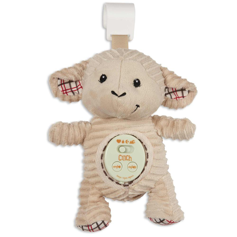 Cinch by dexbaby Plush Mini Lamb - Sleep Aid Womb Sound Soother w/Playardand Crib Attachment. Picture 1