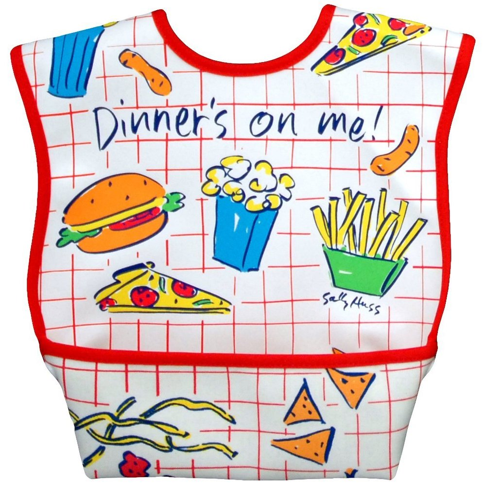 Dexbaby Waterproof Dura-Bib Large, Patented Catch-All Pocket, 4-Pack. Picture 6