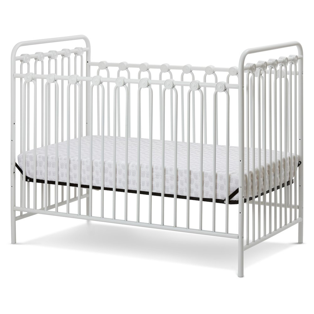 Napa 3 in 1 Convertible Full Sized Metal Crib in Alabaster White. Picture 1