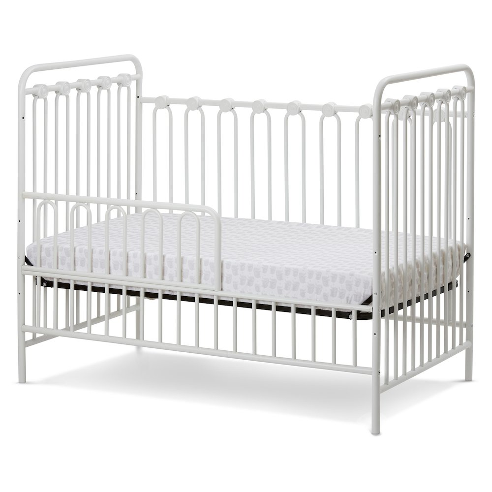 Napa 3 in 1 Convertible Full Sized Metal Crib in Alabaster White. Picture 2