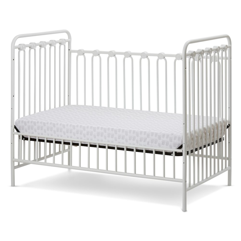 Napa 3 in 1 Convertible Full Sized Metal Crib in Alabaster White. Picture 3