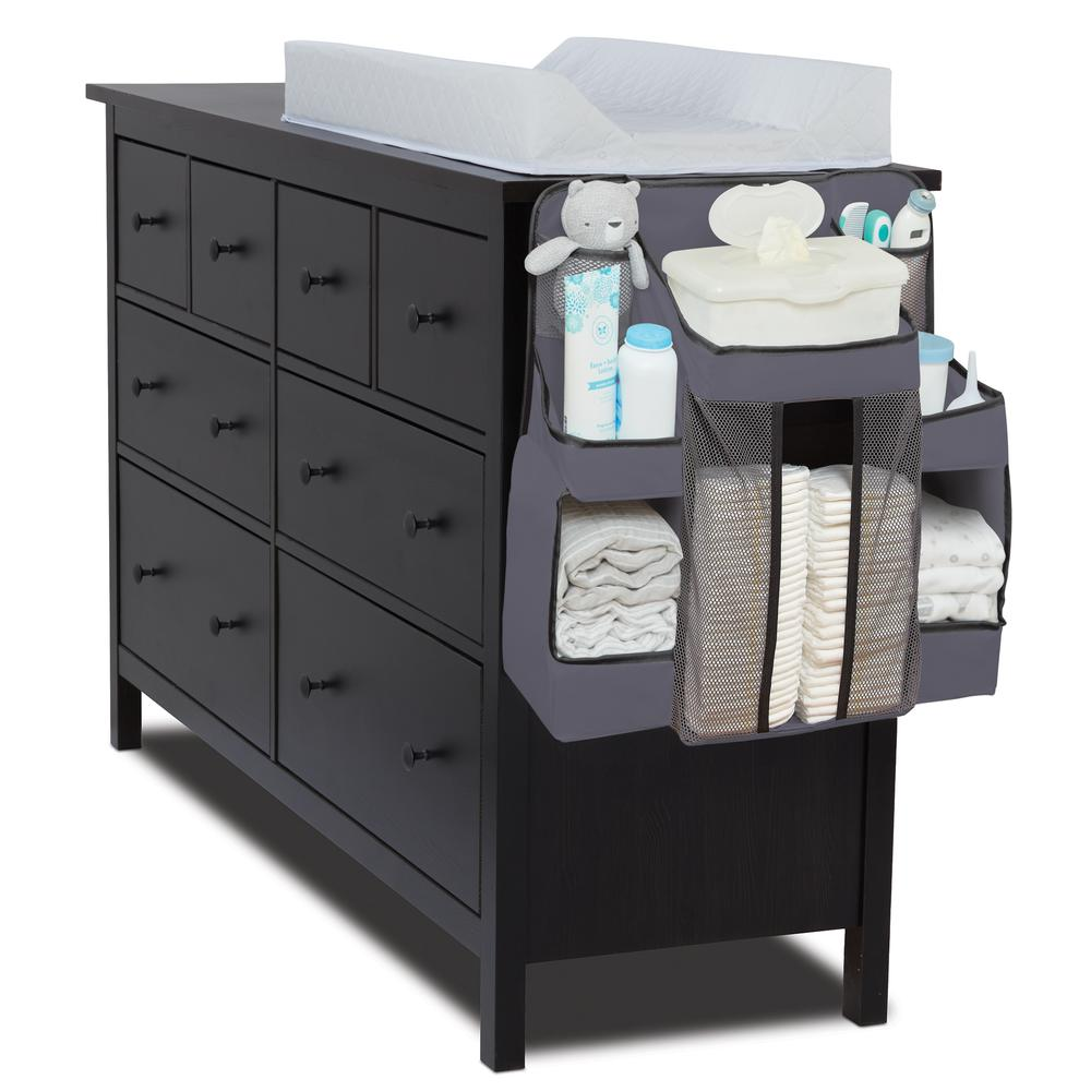 Diaper Caddy and Nursery Organizer for Baby's Essentials - Gray. Picture 2