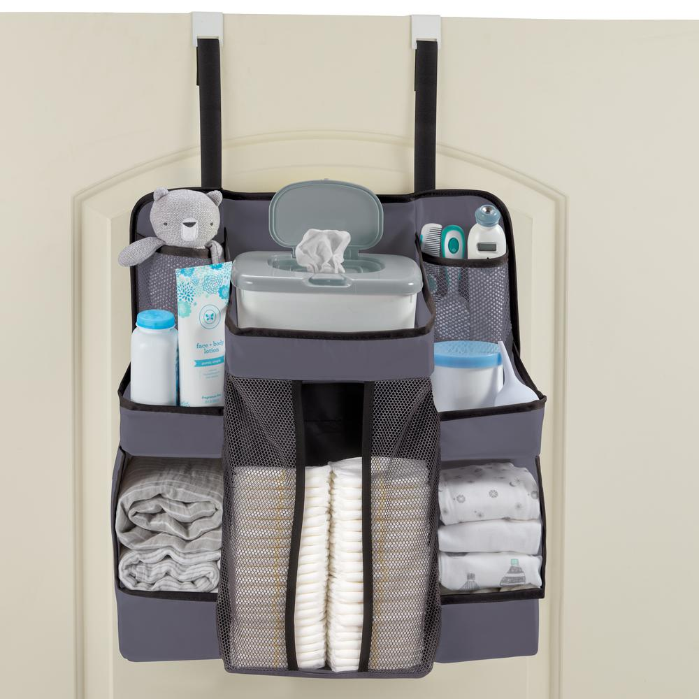 Diaper Caddy and Nursery Organizer for Baby's Essentials - Gray. Picture 3