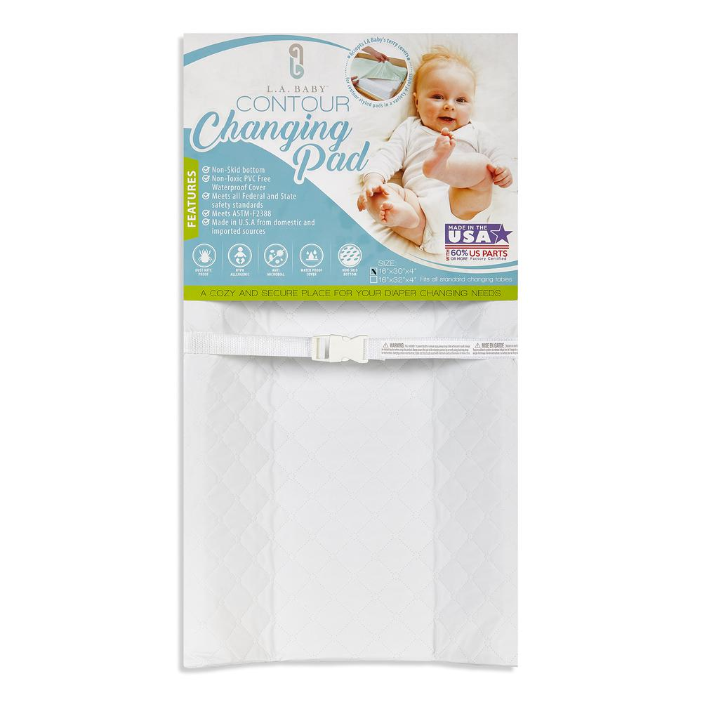 "30"" Contour Changing Pad-White, White. Picture 1"