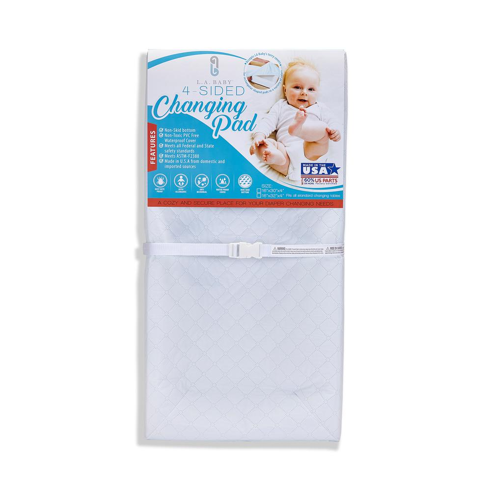 """32"""" 4 Sided Pad - White, White. Picture 1"""