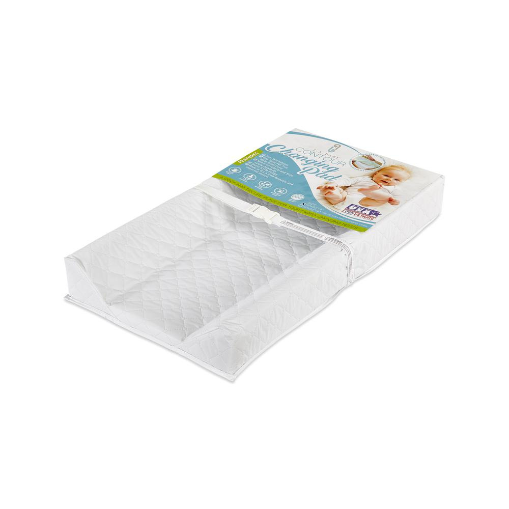 LA Baby Combo Pack with 30'' Contour Changing Pad and White Terry Cover, White. Picture 2