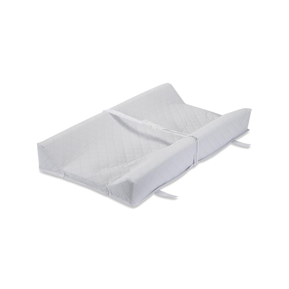 LA Baby Combo Pack with 30'' Contour Changing Pad and White Terry Cover, White. Picture 4