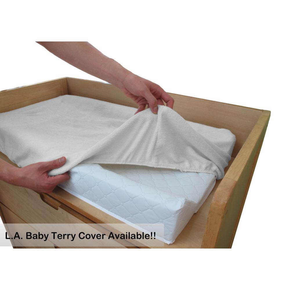 LA Baby Combo Pack with 30'' Contour Changing Pad and White Terry Cover, White. Picture 5