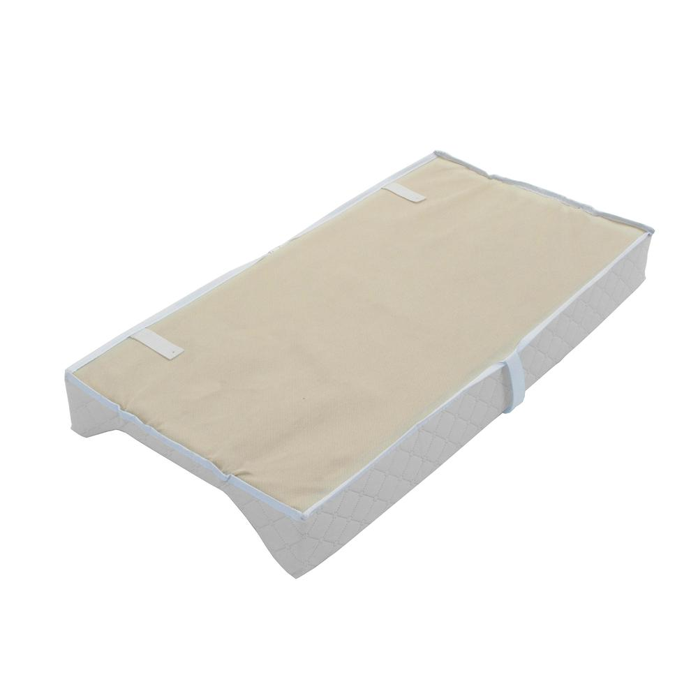 LA Baby Combo Pack with 30'' Contour Changing Pad and White Terry Cover, White. Picture 6
