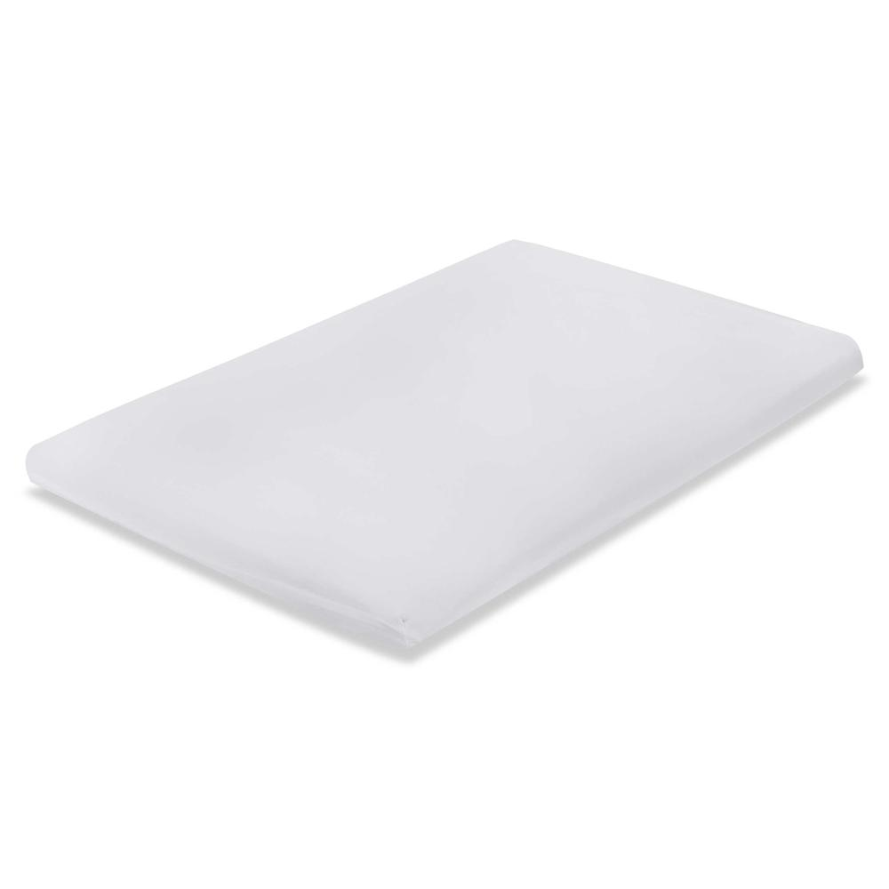Fitted Sheet for Compact Crib Mattress, White. Picture 1