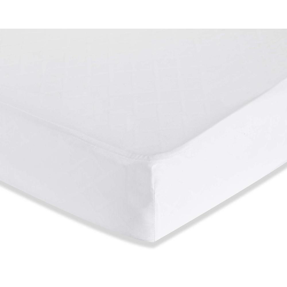 Fitted Sheet for Full Size Crib, White. Picture 2